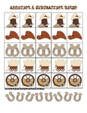 Western Themed Addition and Subtraction Math Bingo