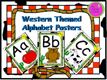 Western Themed Alphabet Posters
