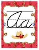 Western Themed Alphabet Posters (Cursive)