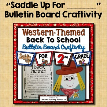 Western-Themed Back To School BUNDLE --- Presentation, Tags, Folders, Craftivity