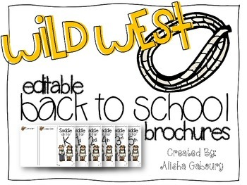 Western Themed Back To School Brochures [Editable]