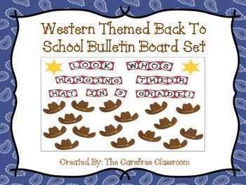 Bulletin Board Set: Western Themed Back To School