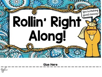 Western Themed Behavior Clip Chart with EDITABLE Pages
