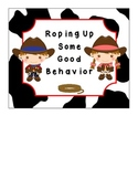 Western Themed Behavior Clip Chart - No Monetary System