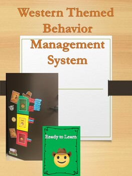 Western Themed Behavior Management Posters and Parent notes