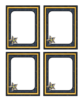Western Themed Blank Labels