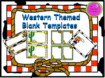 Western Themed Blank Templates