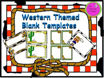 Western Themed Blank Templates