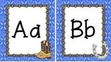 Western Themed Blue Bandana Print Alphabet