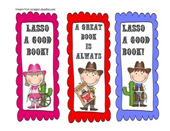 Western Themed Bookmarks