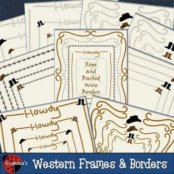 Western Themed Frames & Borders