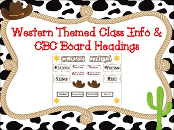 CBC and Class Info Board: Western Themed