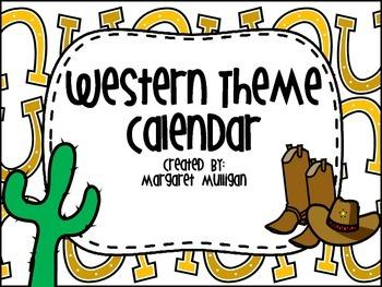 Western Themed Calendar