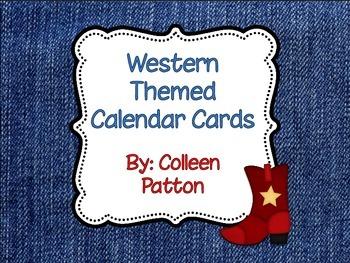 Western Themed Calendar Cards