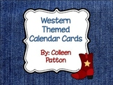 Western Themed Calendar Cards