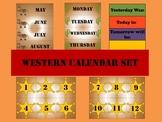 Western Themed Calendar Set