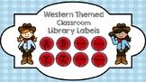 Western Themed Classroom Library Labels