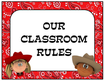 Western Themed Classroom Rules
