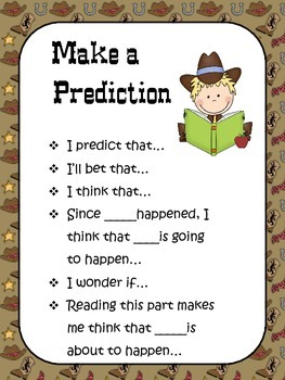 Western Themed Comprehension Stem Posters