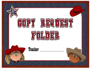 Western Themed Copy Folder Cover