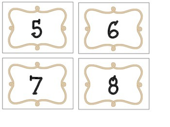 Western Themed Cubby/Calendar Numbers
