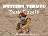Western-Themed Desk Labels