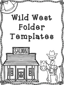 Western Themed Folder Templates (Black and White)
