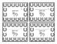 Western Themed Horseshoe Behavior Punch Cards