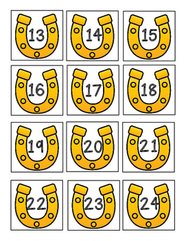 Western Themed Horseshoe Number Labels