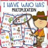 Western Themed I Have, Who Has? {Multiplication Game}