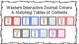 Western Themed Interactive Journal Covers with Matching Ta