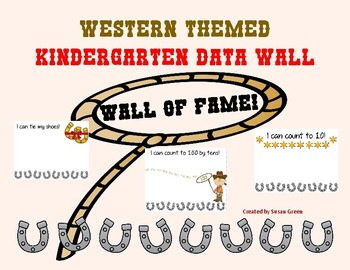 "Western Themed Kindergarten Data Wall; ""Wall of Fame"""