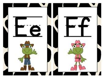 Western Themed Large Alphabet Cards