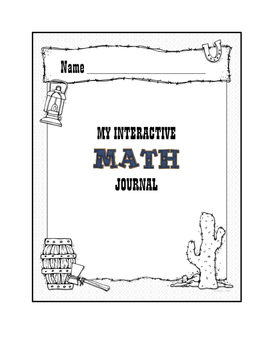 Western Themed Math Journal Cover