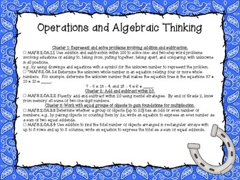 Western Themed Mathematics Florida Standards Checklist for Second Grade