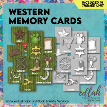 Western Themed Memory Game