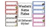 Western Themed Name Plates for Desks