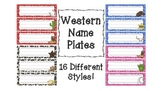 Western Themed Name Plates for Desks
