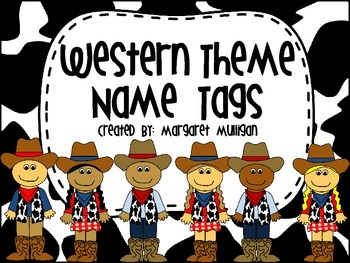 Western Themed Name Tags
