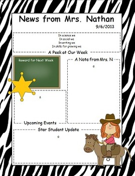 Western Themed Newsletter