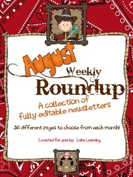 Western Theme Newsletter Template for August
