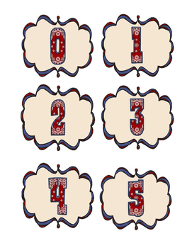Western Themed Numbers