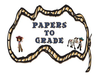 Western Themed Papers to Grade Label