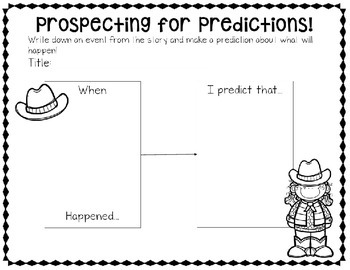 Western Themed Reading Skills Posters and Differentiated Response Sheets!