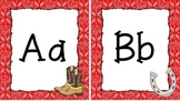 Western Themed Red Bandana Print Alphabet