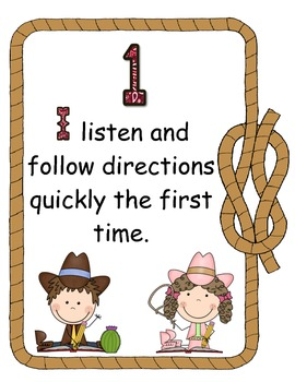 Western Themed Rules of the Wild West Sign Print Set