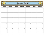 Western Themed School Calendar
