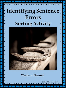 Western Themed Sentence Error Sorting Center Activity