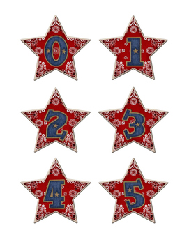 Western Themed Star Number Labels