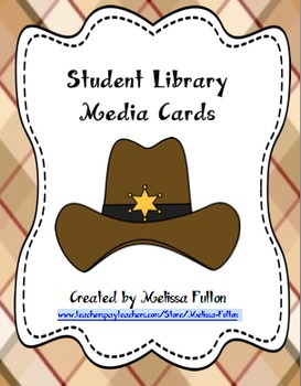 Western Themed Student Library Media Cards